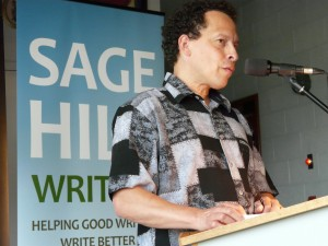 Lawrence Hill delivering the 2013 lecture.